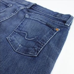 7 For All Mankind Straight Jeans Women's 26 #JA02